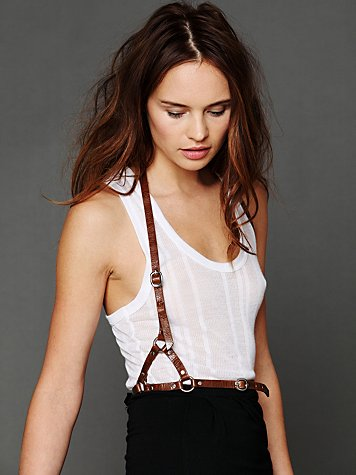 Leather Harness Belt