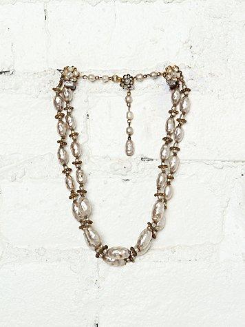 Vintage Miriam Haskell Pearl Necklace