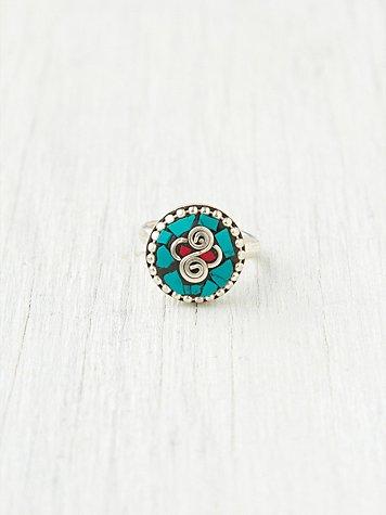 Turquoise Round Ring