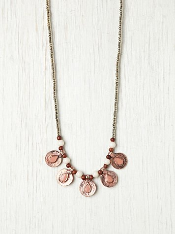 Color Center Coin Necklace