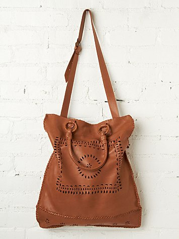 Leather Lace Tote