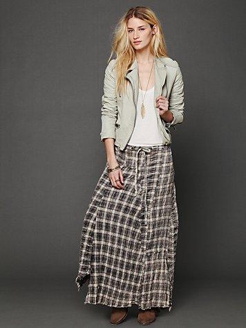 Janus Plaid Maxi Skirt