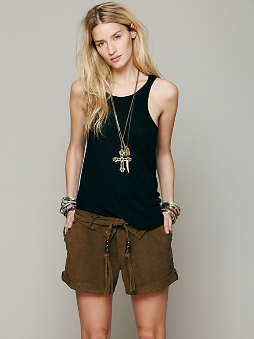 Suede Slouch Short