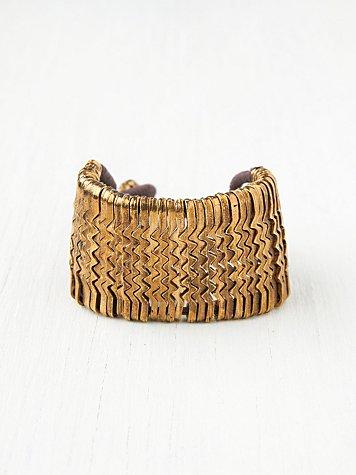 Metal Zig Zag Bracelet