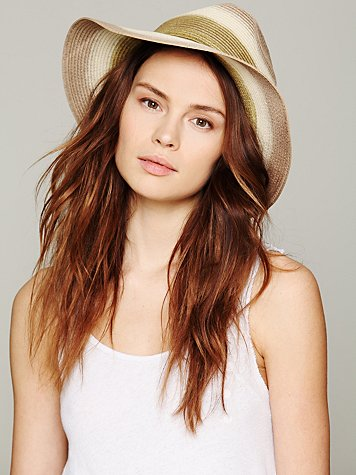 Ombre Straw Panama Hat