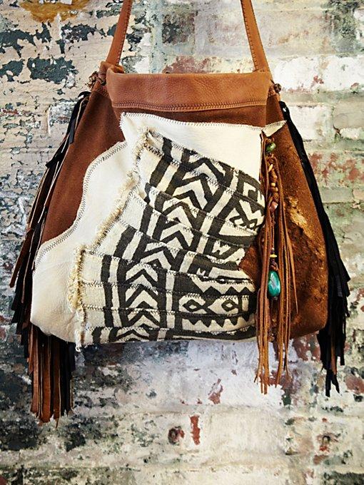 Vintage African Bogolanfani Bag #481