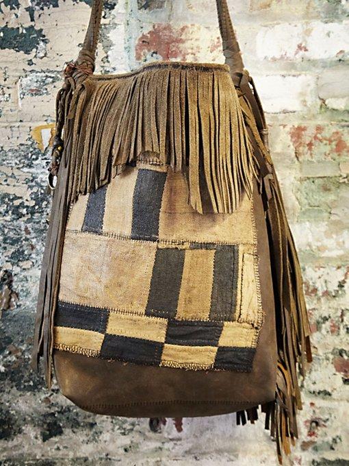Vintage African Patchwork Bag #1031