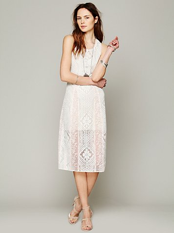 Miracle Lace Midi Dress