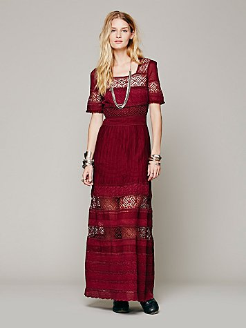 Mix In The Crochet Dress