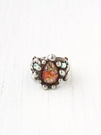 Filigree Stone Ring