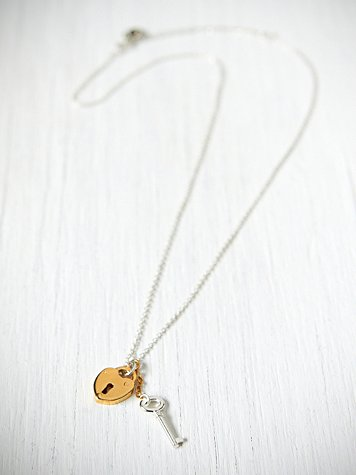 Locking Padlock Necklace