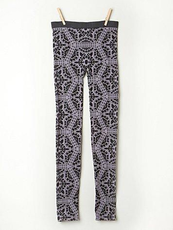 Floral Intarsia Legging