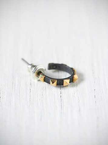 Studded Small Hoop
