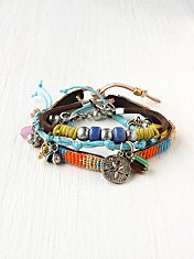 Charm and Bead Bracelet Set