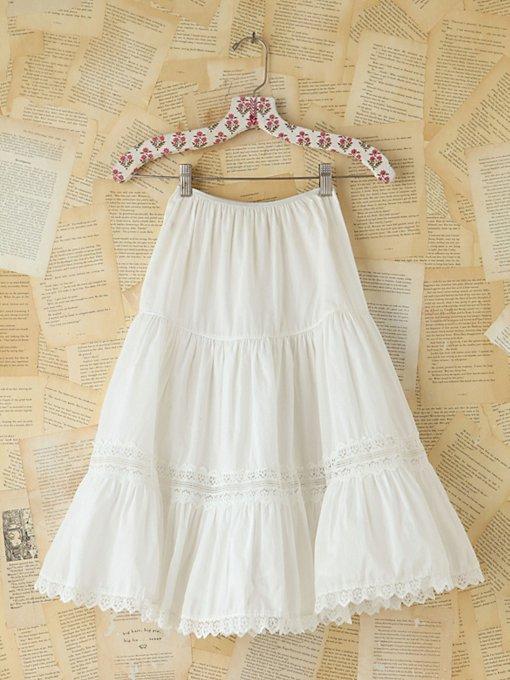 Vintage 1950s Cotton Skirt