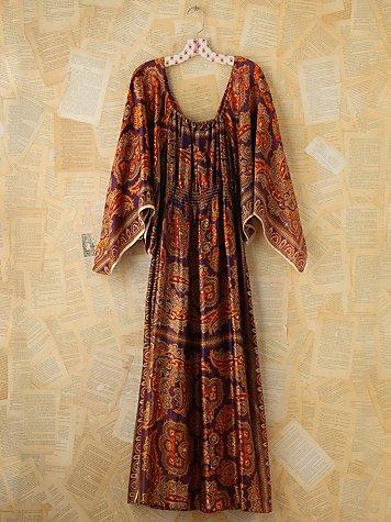 Vintage Scarf Printed Dress