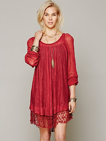 Shirred Peasant Tunic