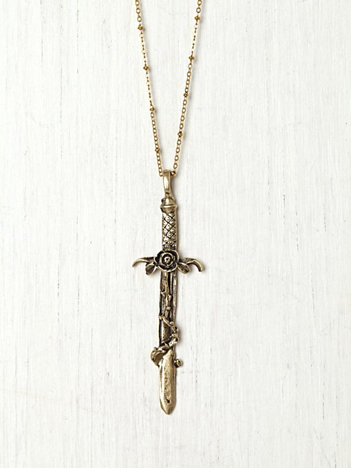Crimson Cross Necklace