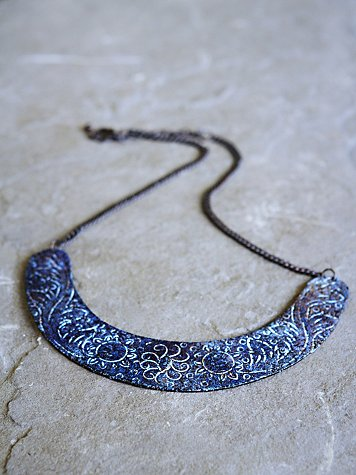 Patina Etched Collar
