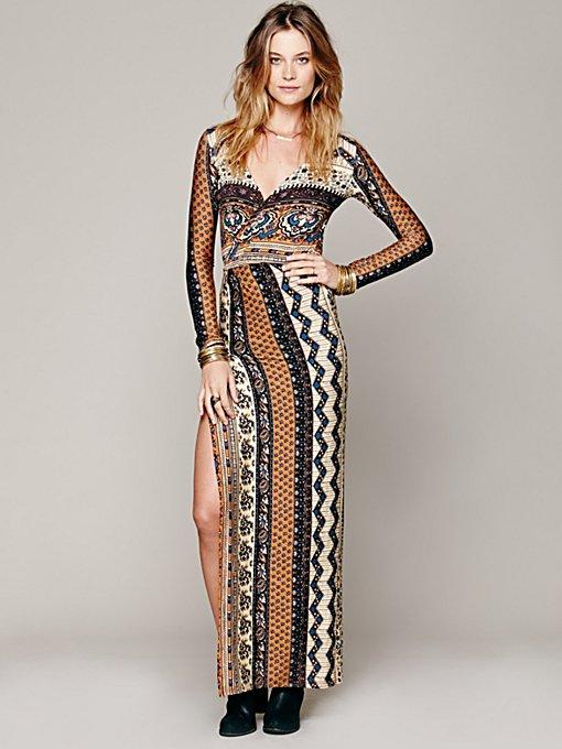 Siren Print Maxi Dress
