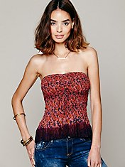 FP ONE Fresh Fields Peplum Tube Top