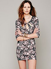 Cut Out Feathered Bodycon