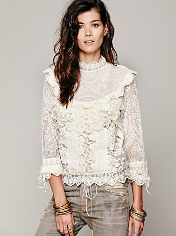 FP New Romantics High Neck Victorian Top