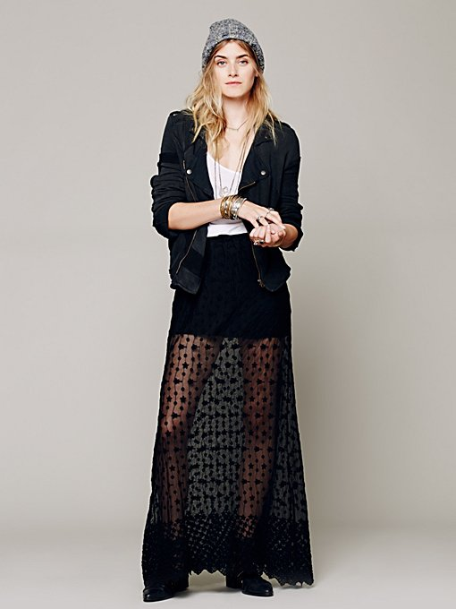 Stevie Sheer Lace Maxi