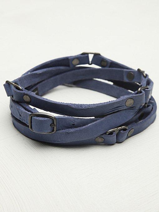 Distressed Double Wrap Belt