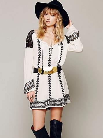 Wild Child Embroidered Dress