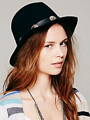 Novelty Band Brimmed Hat