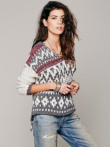 Fairisle Hooded Pullover