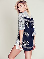 Plaid Print Back Buttondown