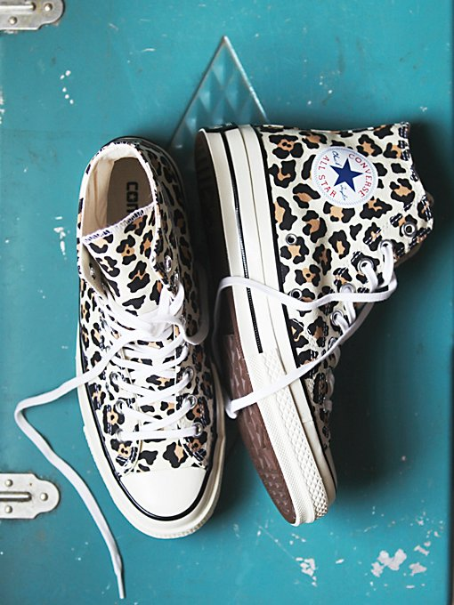 Leopard Hi Top Chucks