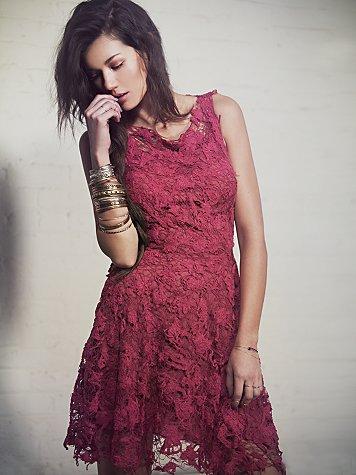 Destruction In Lace Dress
