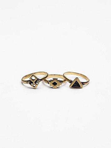 Nazar Midi Ring Set
