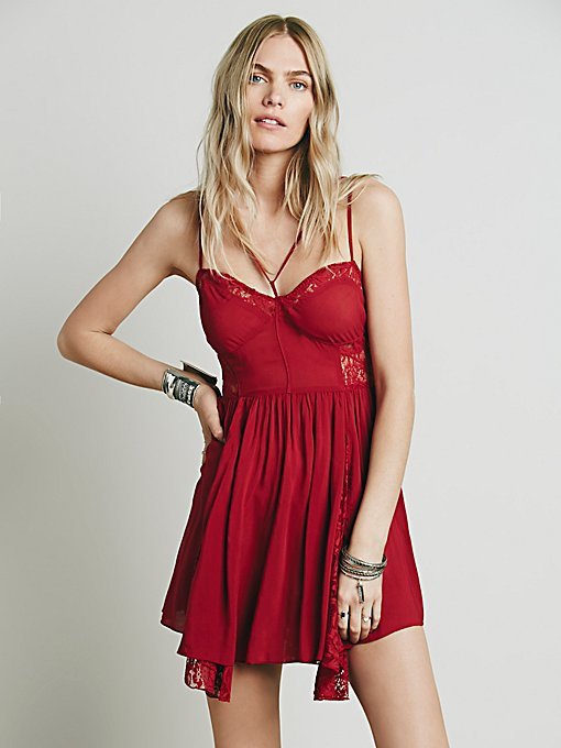 Strappy Front Fit and Flare Slip