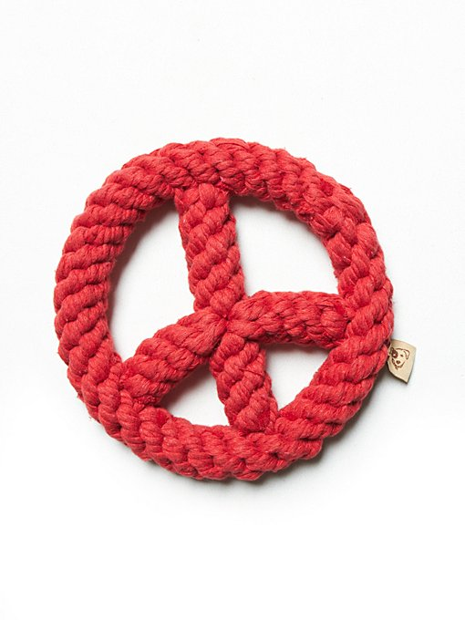 Peace Sign Rope Dog Toy