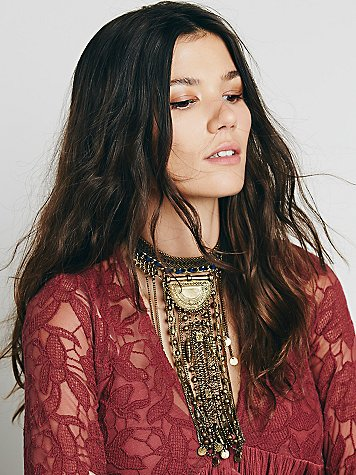 Exaggerated Fringe Collar