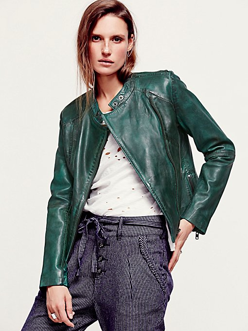 Reminiscent Motorcycle Leather Jacket