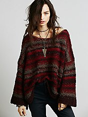Wool Slouchy Stripe Pullover