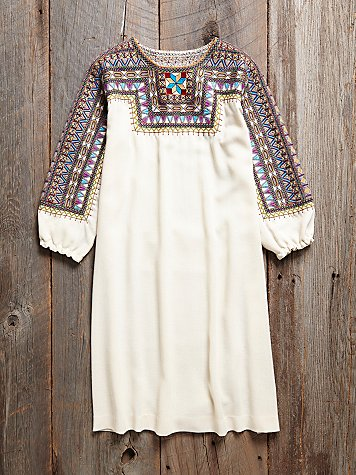 Vintage 1970s Embroidred Tunic