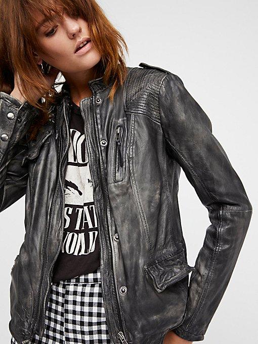 Rumpled Leather Blazer