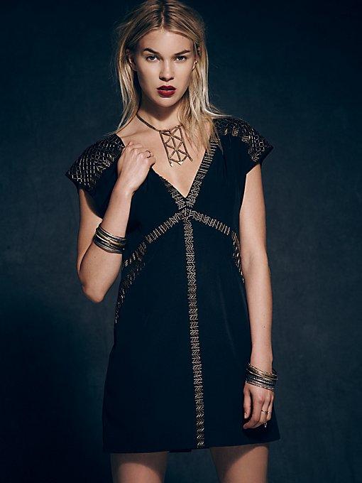 Deep V Embellished Dress