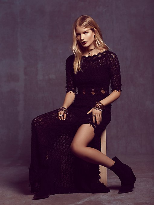 Florence Lace V Back Gown