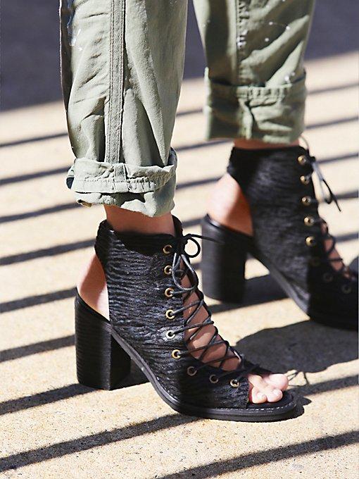Lux Minimal Lace Up Heel