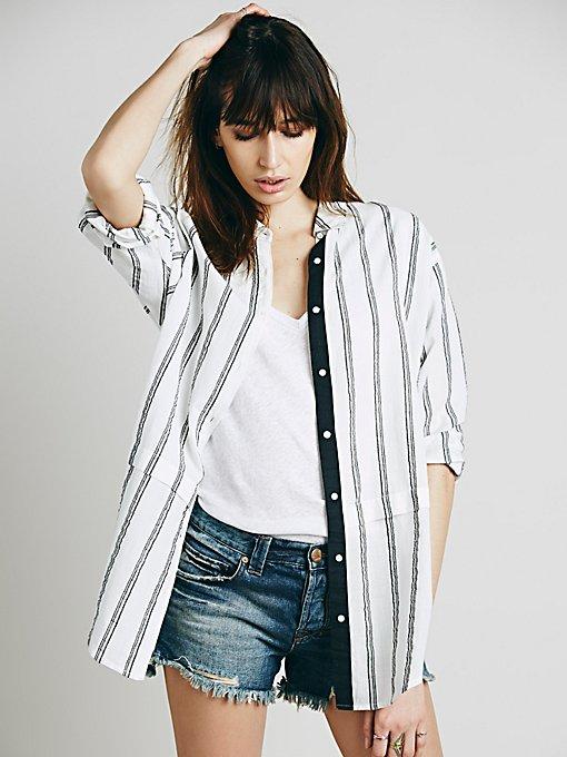 Stripe Oversize Boyfriend Shirt