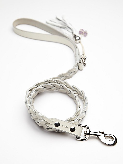 Blake Braided Leather Leash