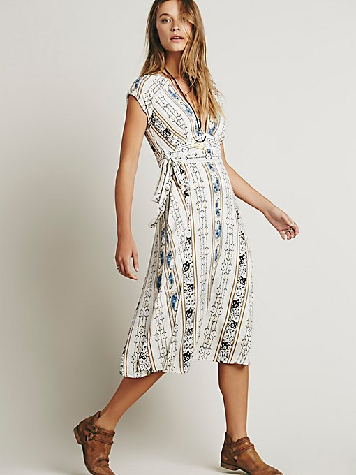 Wrap It Printed Midi