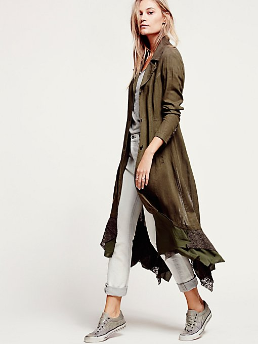 Linen Long Lace Up Jacket